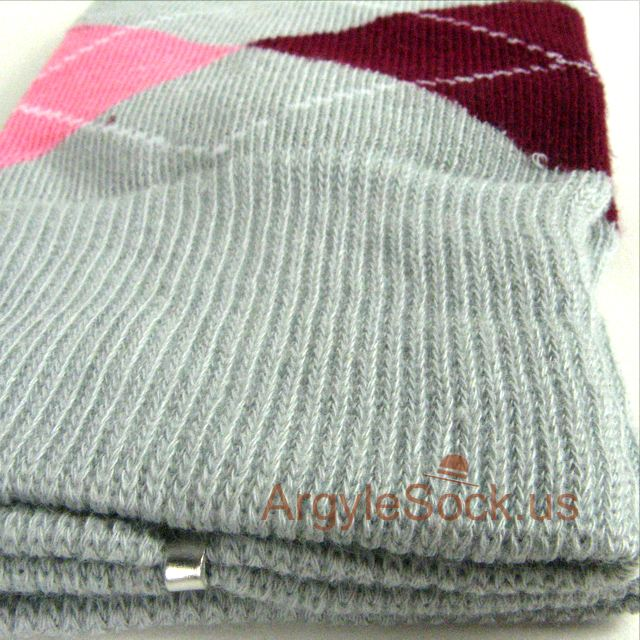MA042 grey gray maroon pink groomsmen mens socks