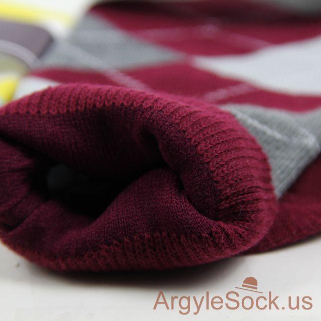 burgundy maroon mens socks