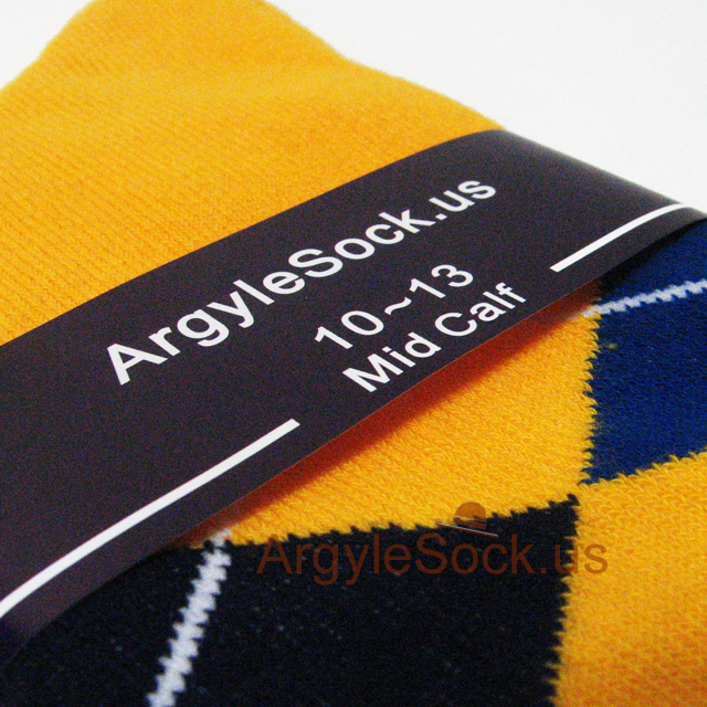 gold yellow men and Groomsman argyle socks