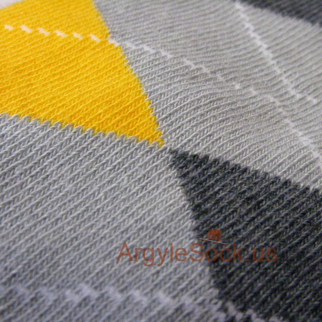 gray charcoal dark grey yellow mens argyle sock