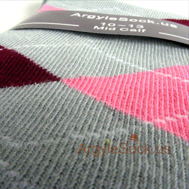 grey gray maroon pink groomsmen socks for wedding