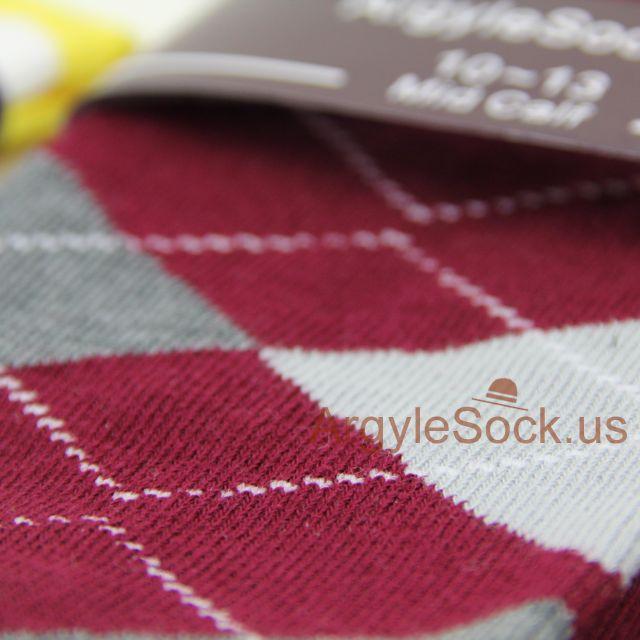 maroon burgundy groomsmen socks