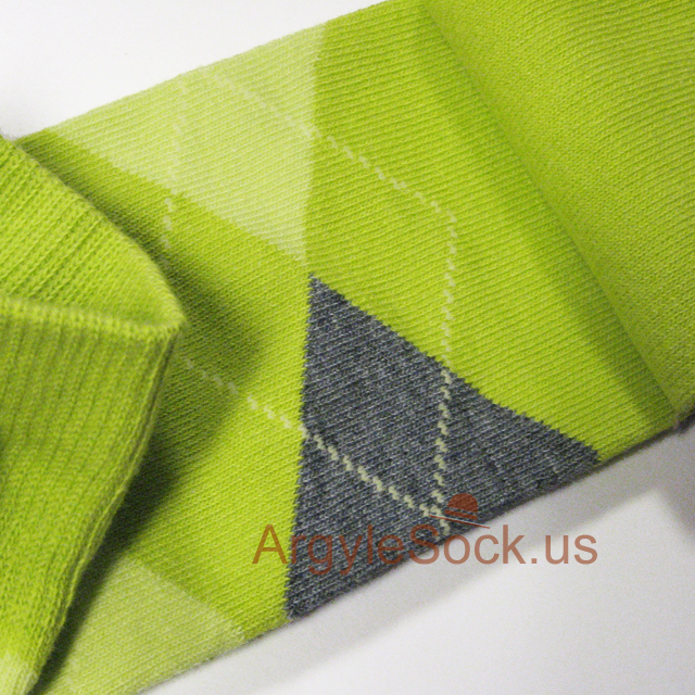 men's lime green socks