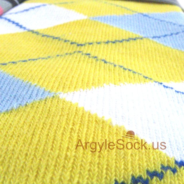 yellow light blue mens argyle groomsmen socks