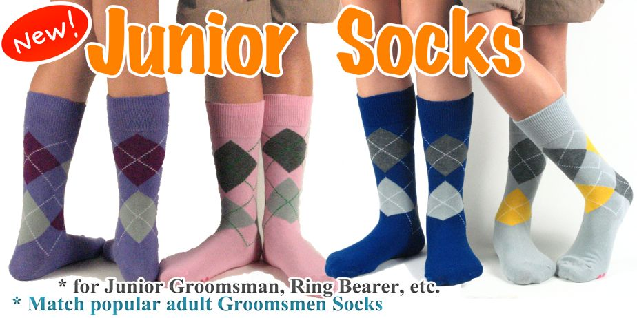 new junior groomsmen/ring bearer socks