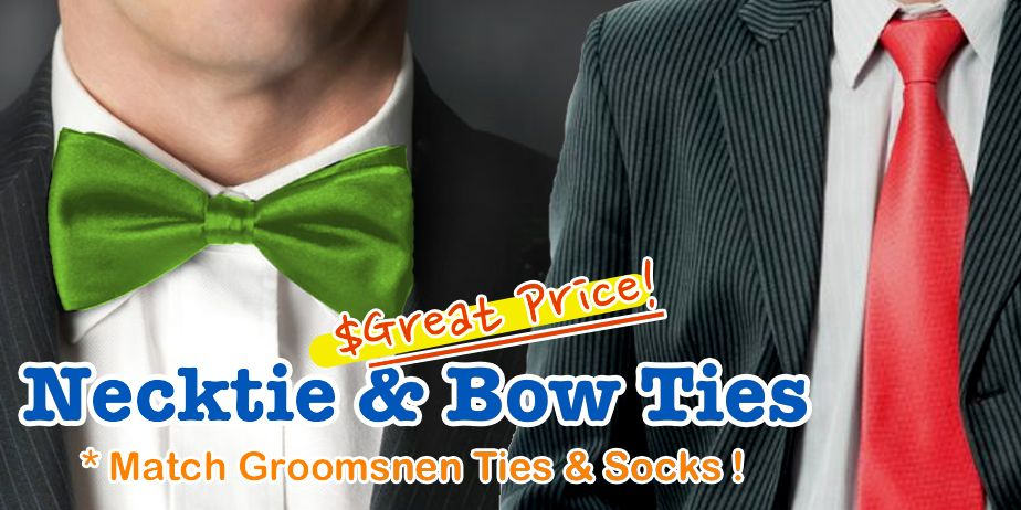 bow ties and neckties for wedding