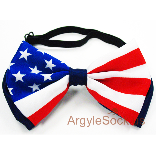 american flag bow tie for men