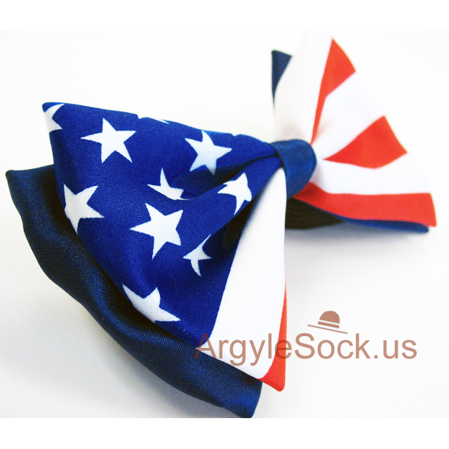 american flag design bow tie