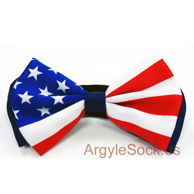 american usa flag bow tie blue white red