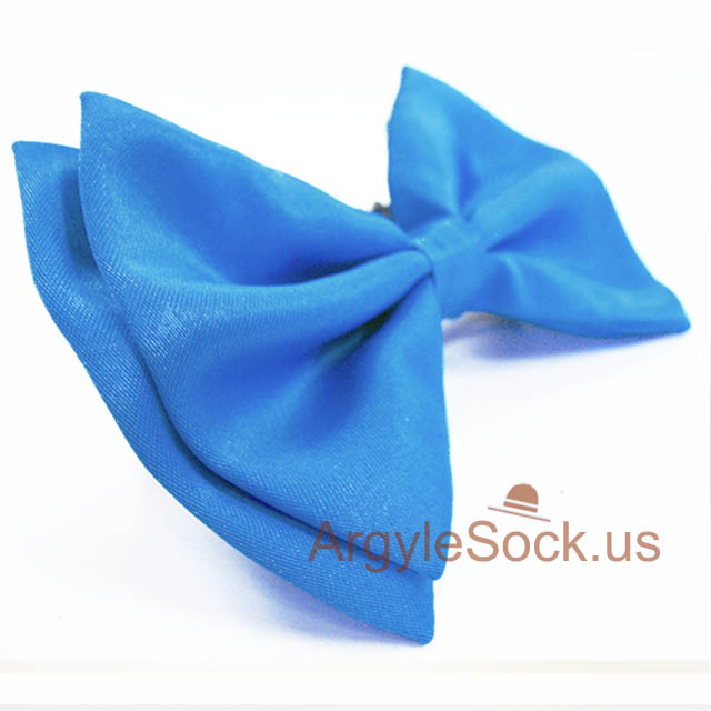 mens bright blue bow tie
