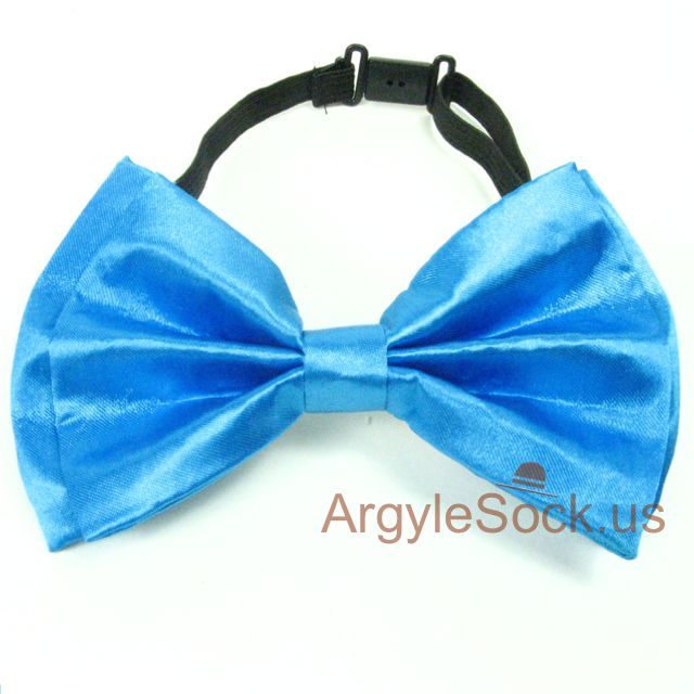 chap neon blue bow tie for wedding
