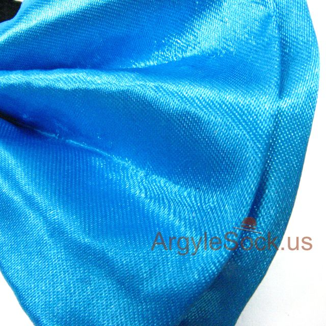 chap neon blue wedding bow tie