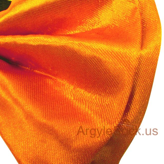 chap neon orange bow tie for wedding