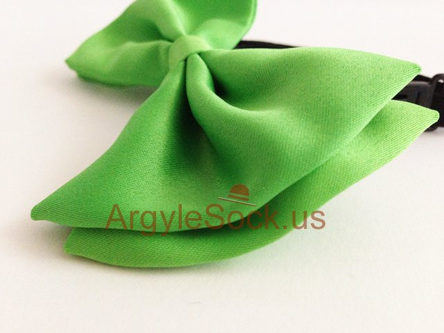 cheap lime geen bow tie for groomsmen