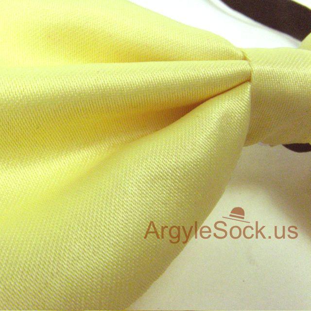 cheap yellow groomsman bow tie