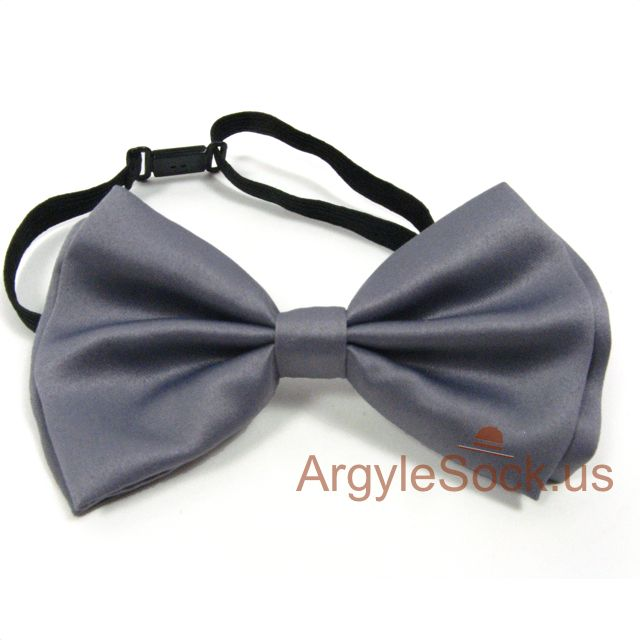 groomsmen gray bow tie for wedding