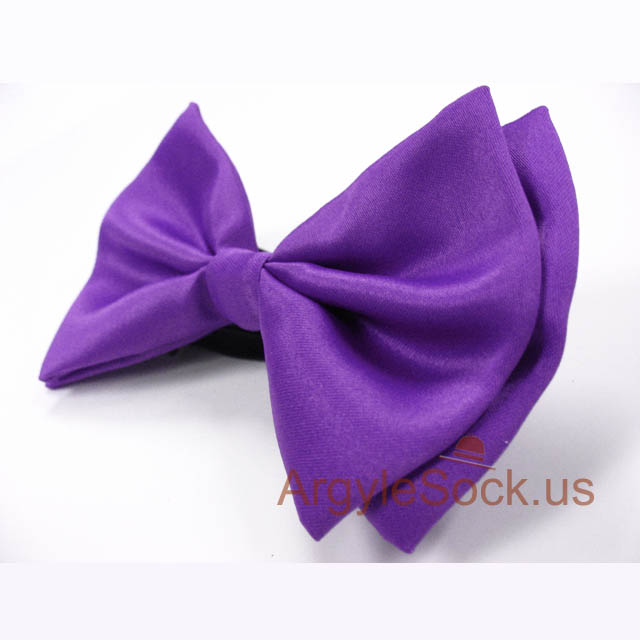 groomsmens violet purple bow tie