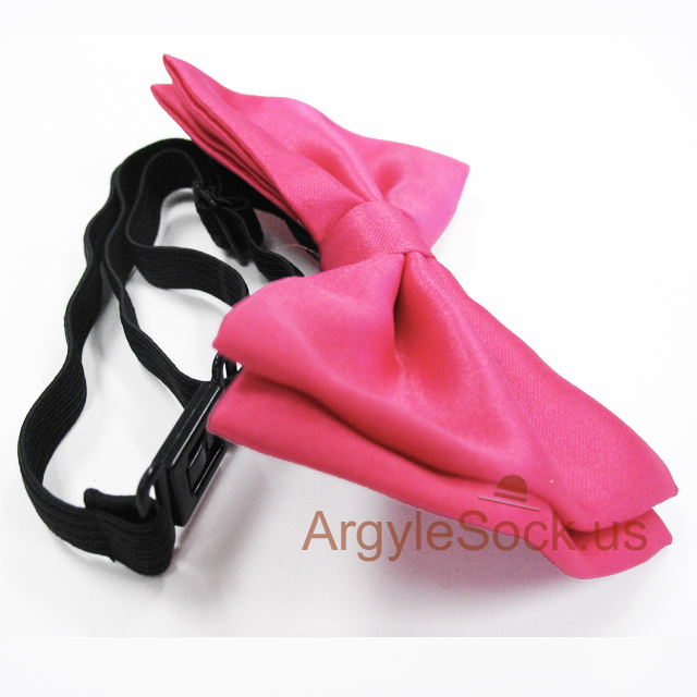 hot pink bow tie for men