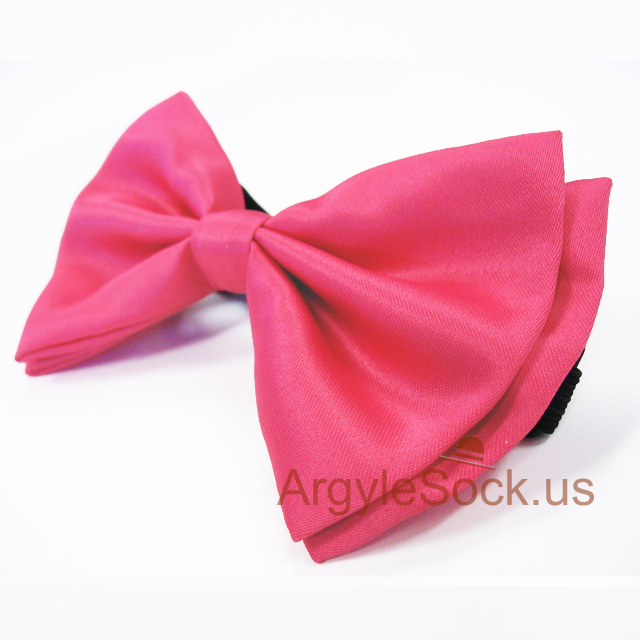 hot pink bow tie with adjustable strap