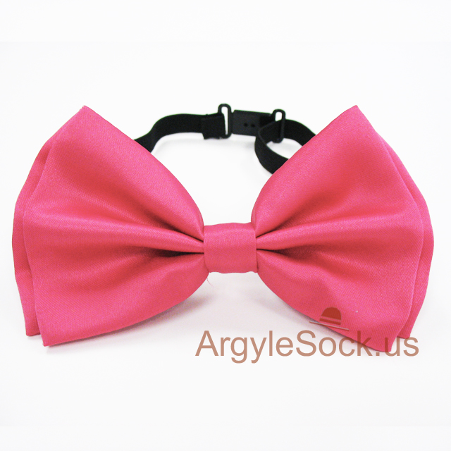 hotpink bow tie for wedding