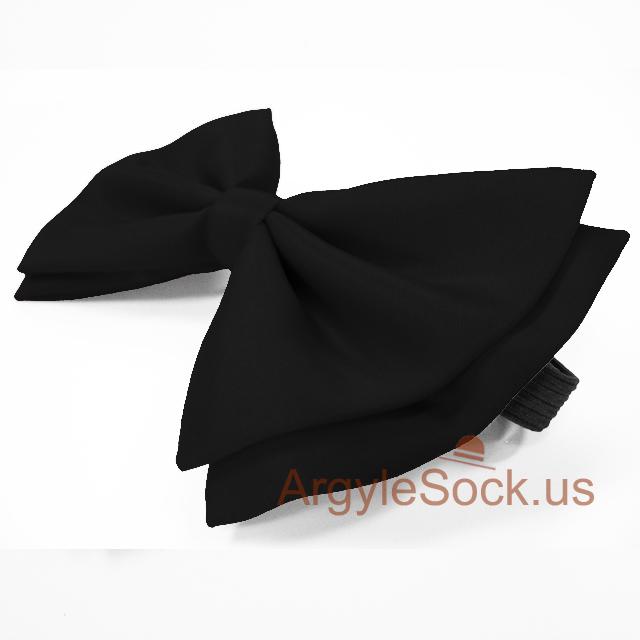 mens black bow tie