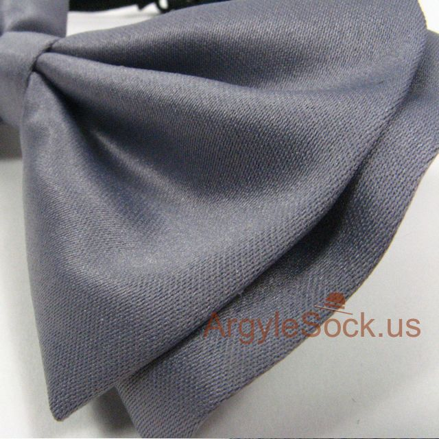 mens gray bow tie for wedding