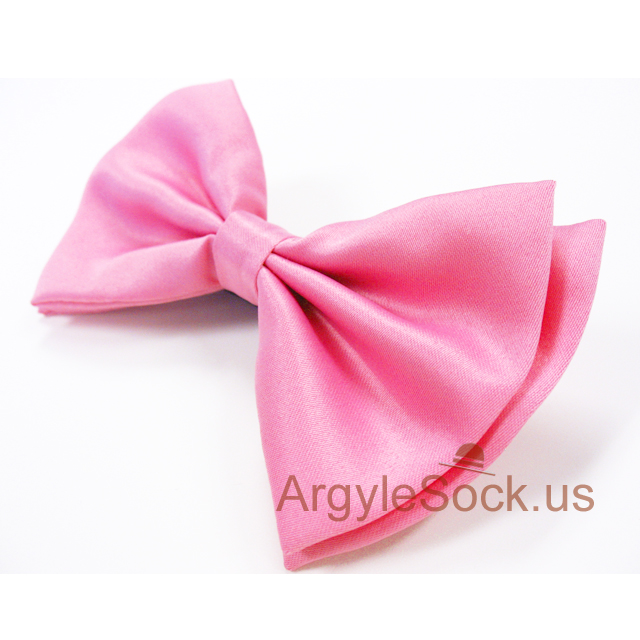 men's pink bow tie