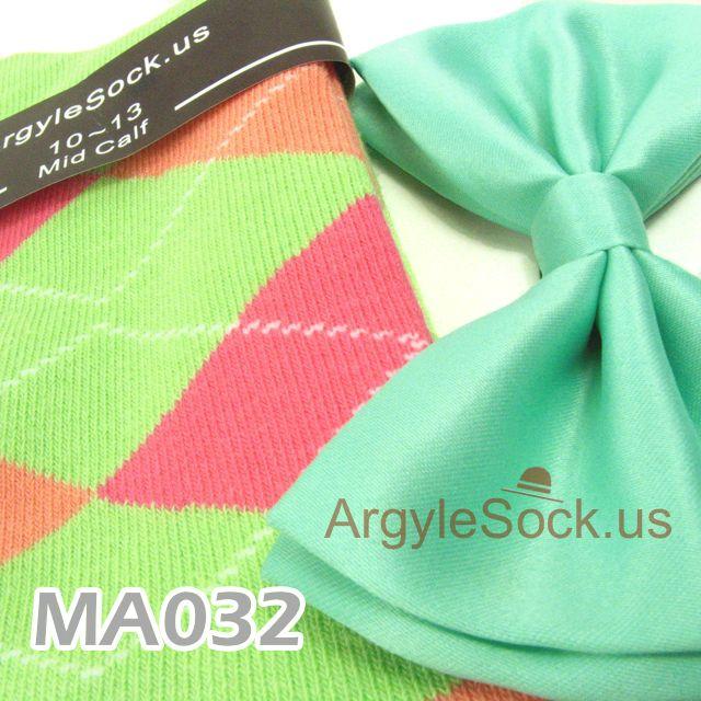 mint green socks spring green bow tie for wedding