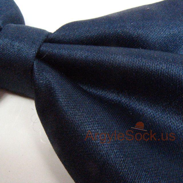 navy midnight blue bow tie for wedding