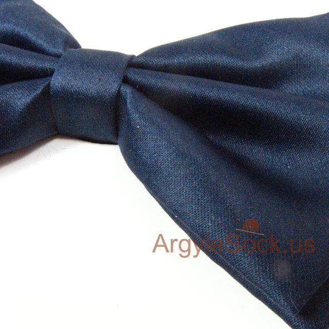 navy midnight groomsmen bow tie