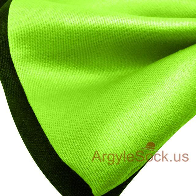 cheap neon green black bowtie for groomsmen