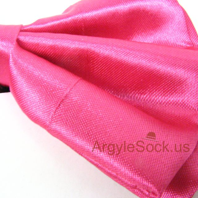 neon pink bow tie for groomsmen
