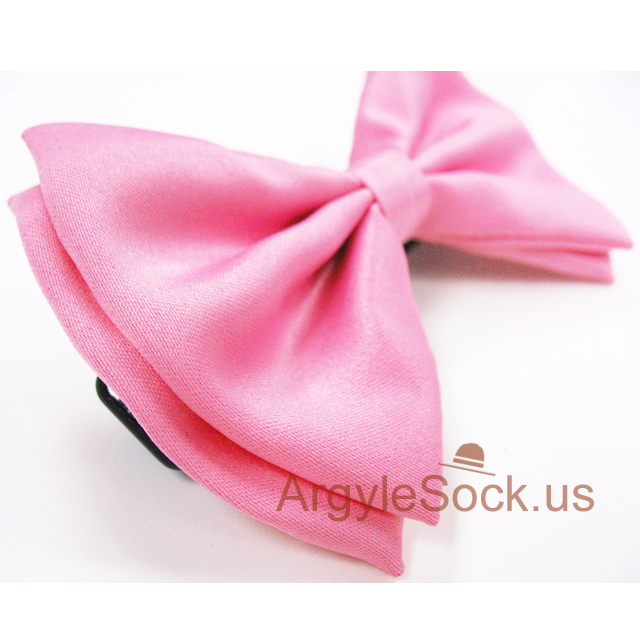 pink bow tie side view