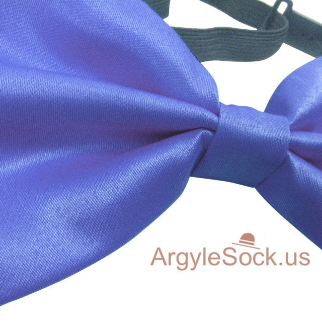 pompadour blue bow tie for wedding