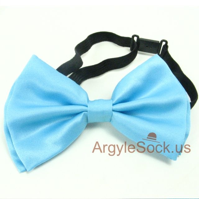 sky blue bow tie for groomsman
