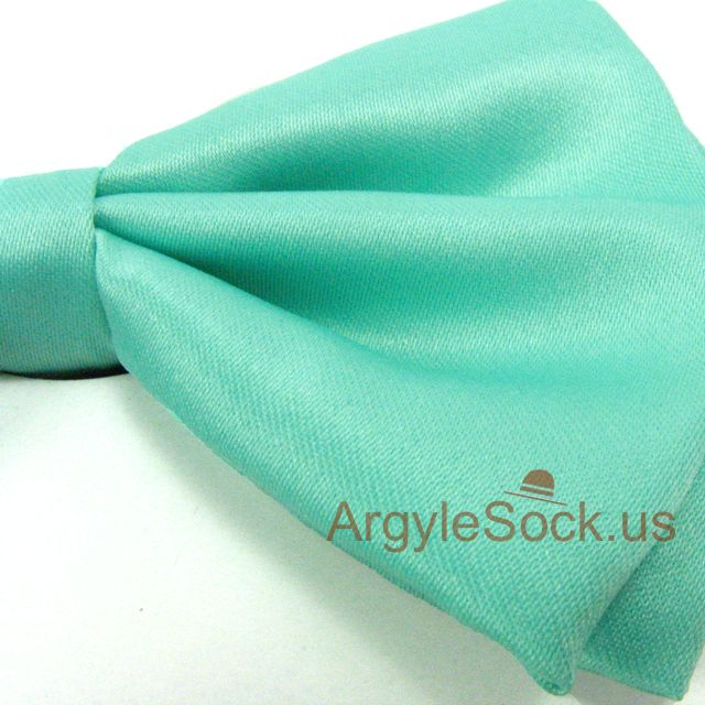 spring green bow tie for men