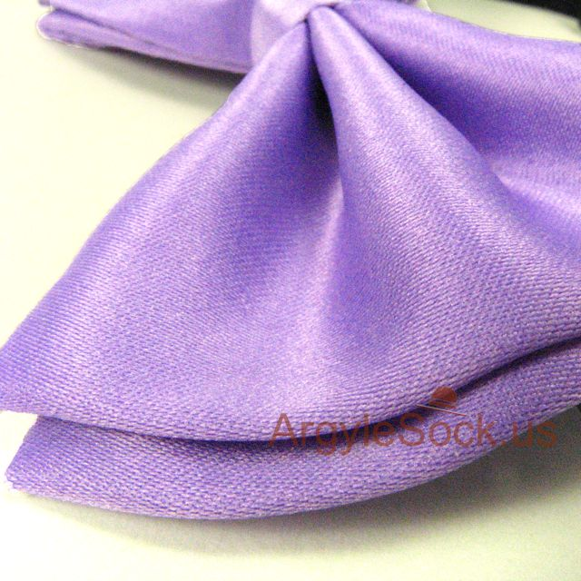 violet groomsmen bow tie