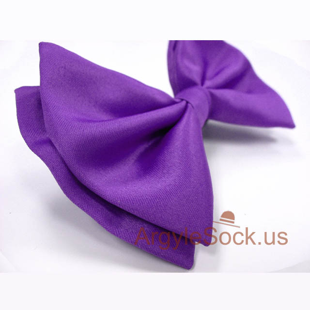 violet purple bow tie for man