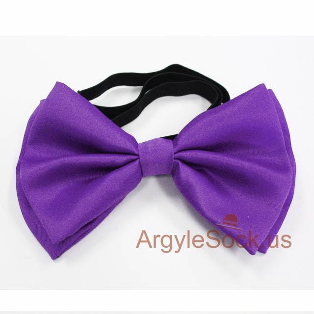 violet purple bow tie for wedding