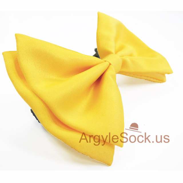 yellow bow tie with adjustable back strap