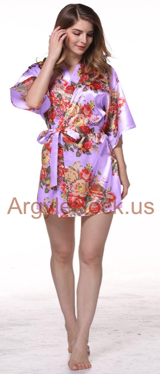 lilac kimono robe