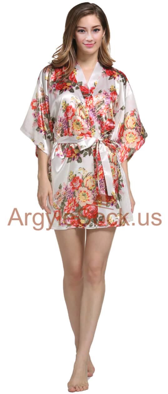 white kimono robe