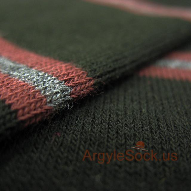 black gray brown striped mens socks
