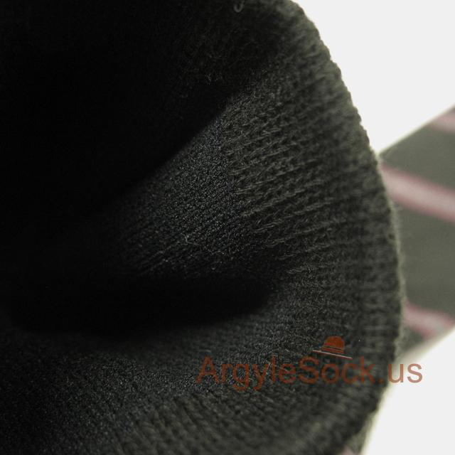 black gray striped mens sock