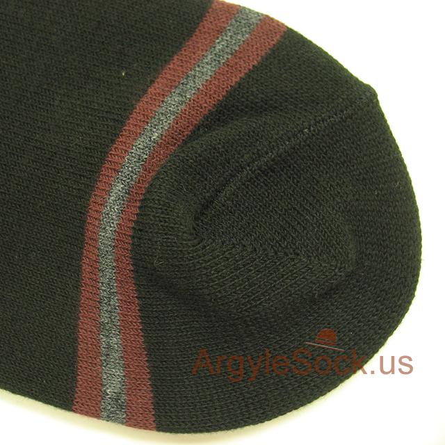 black gray striped mens socks