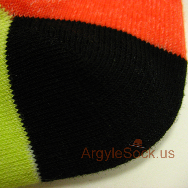 grey orange neon lime green mens socks