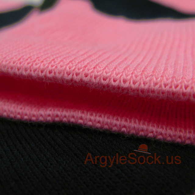 pink navy blue striped mens sock
