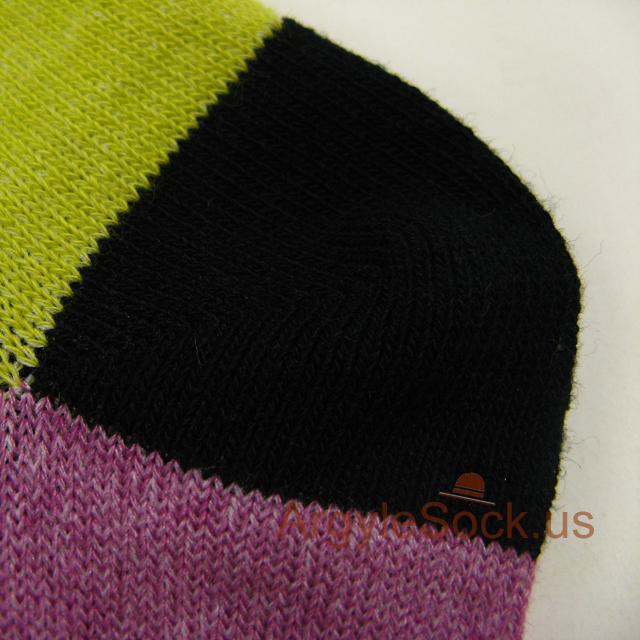 pink purpl lime green aqua mens sock