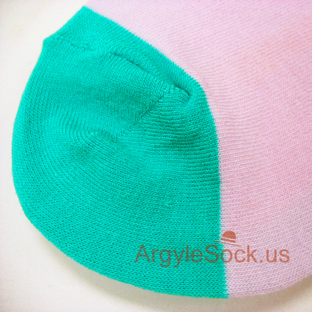 pink turquoise red mens sock