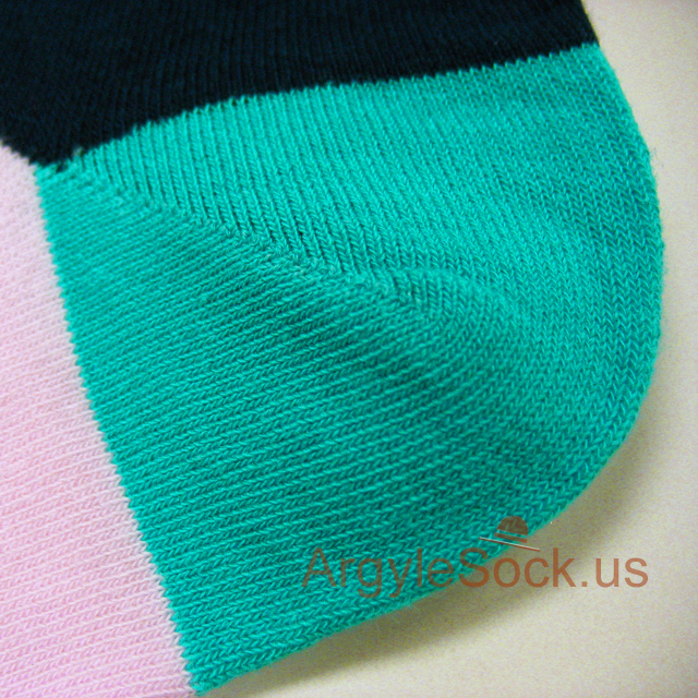 pink turquoise red mens socks